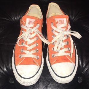 Orange converse sneakers